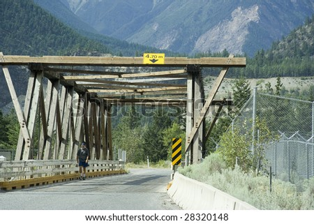 Wooden Bridge, Canada - stock photo