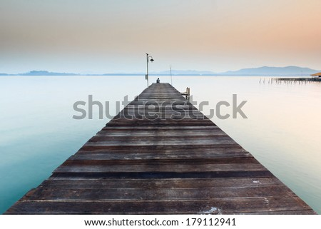 Wooden Bridge to the sea
