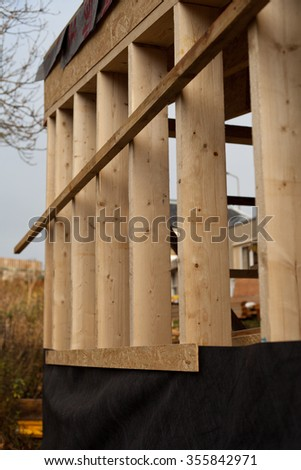 wooden building construction