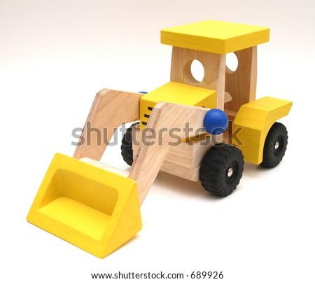 Wooden Bulldozer - stock photo