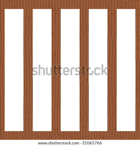 Wooden cage - stock photo