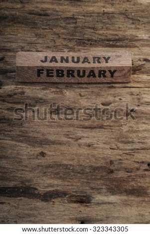 wooden calendar for january
