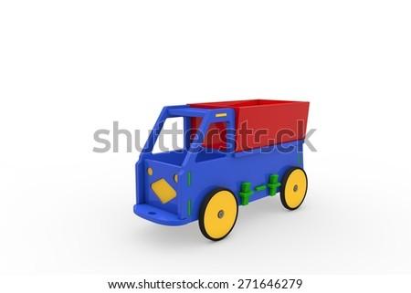 Wooden car - stock photo