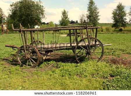 Wooden carriage - stock photo