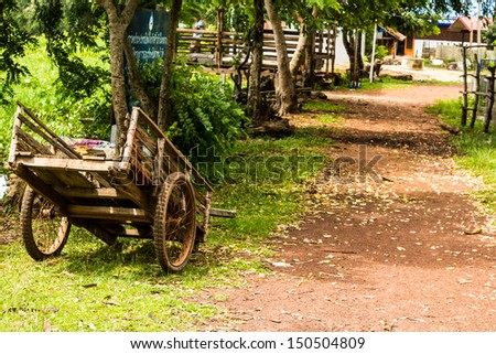 Wooden cart - stock photo