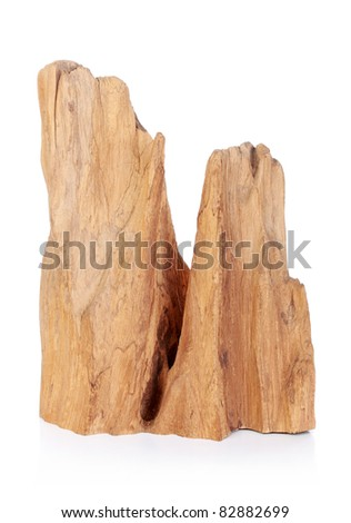 wooden carving isolated on white background - stock photo