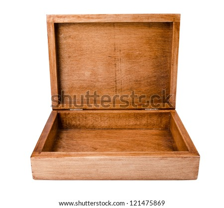 wooden casket - stock photo