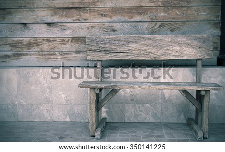 Wooden Chair in Abandoned Building,vintage style - stock photo