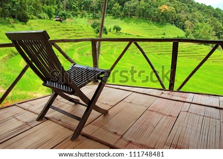 wooden chair in nature