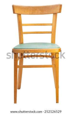 Wooden chair. Isolated - stock photo