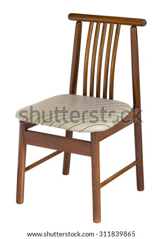 wooden chair isolated on white