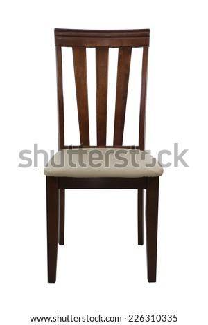 wooden chair  isolated on white background,  file includes a excellent clipping path - stock photo