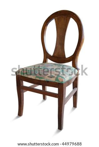 Wooden  chair. Isolated on white with clipping path