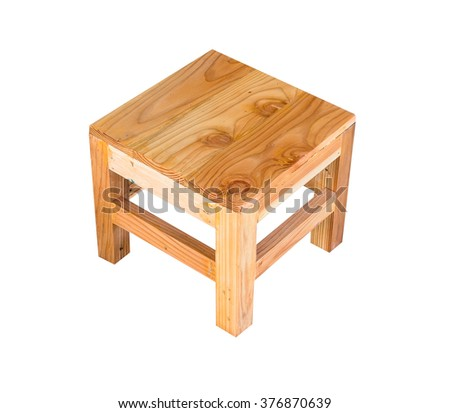 Wooden chair Isolated on with background