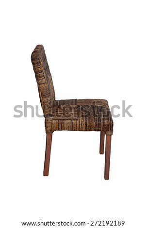 Wooden chair isolated side view