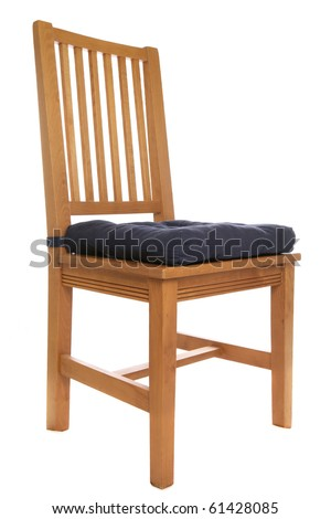 wooden chair isolated studio cutout