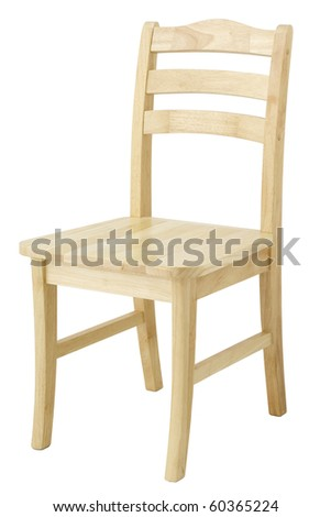 Wooden chair on white background - stock photo