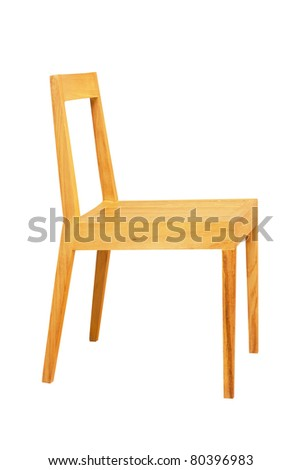 Wooden Chair Side View Isolated On White
