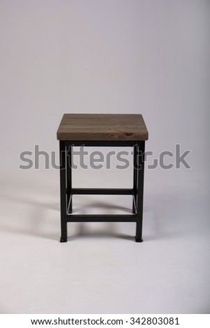 Wooden chair studio made shot - stock photo