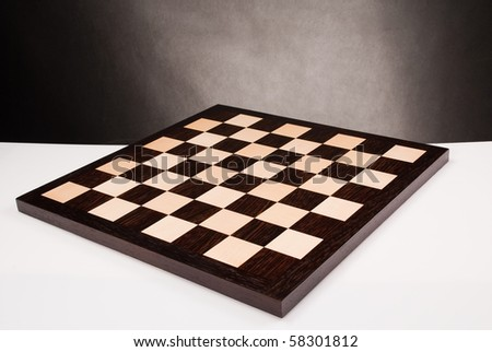 wooden chess board - stock photo