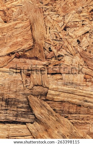 Wooden chipboard reverse side, rough, extra coarse, grunge surface texture detail.