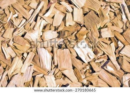 wooden chips abstract  - illustration based on own photo image