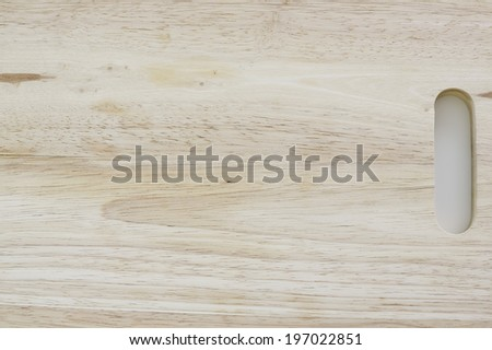Wooden Chopping Board Isolated on White - stock photo