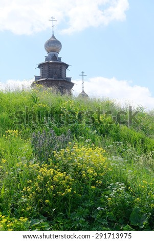 Wooden church in Suzdal, Russia - stock photo