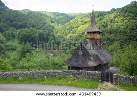 wooden church, Salciua, Apuseni Mountains, Western Carpathians, Romania