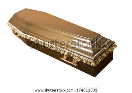 Wooden coffin  - stock photo