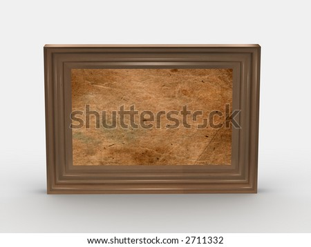 wooden colored frame