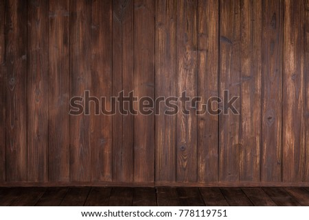 Wooden corner texture background, old brown board