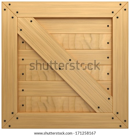 Wooden Crate Texture Isolated On White Background 3d