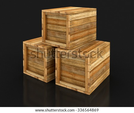 Wooden Crates (clipping Path Included) Part 70