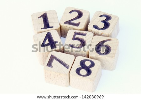 wooden cubes - stock photo
