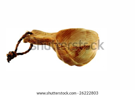 wooden cup - stock photo