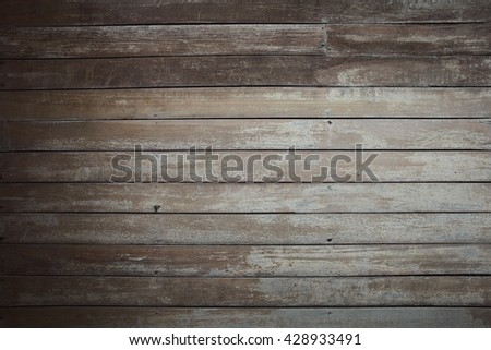 Wooden desk background texture witth aged style - stock photo