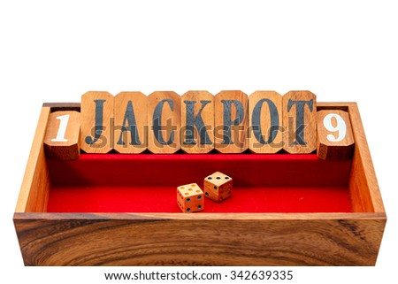 Wooden dice jackpot board game,Intelligent game. - stock photo