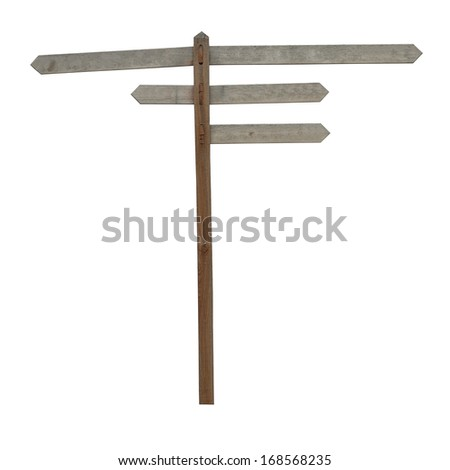 Wooden direction sign with no writing on it  - stock photo