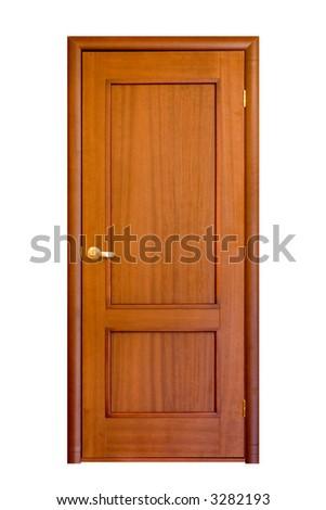 wooden door isolated on white #5 - stock photo