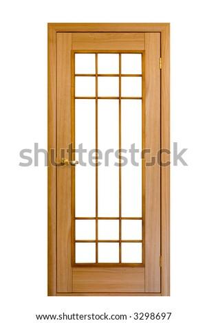 wooden door isolated on white #8 - stock photo
