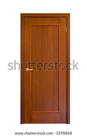 wooden door isolated on white #7 - stock photo
