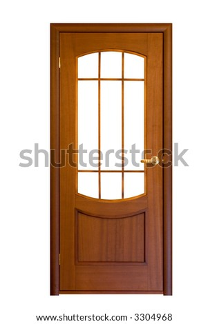 wooden door isolated on white #9 - stock photo
