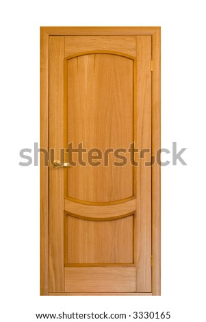 wooden door isolaten on white #10 - stock photo