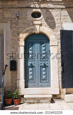 Wooden door. Minervino Murge. Puglia. Italy. - stock photo