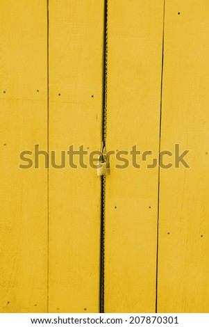 Wooden door with a key lock.
