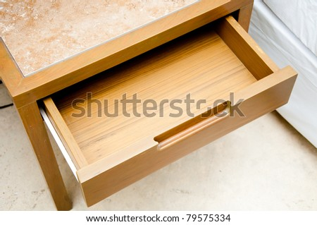 Wooden drawer - stock photo