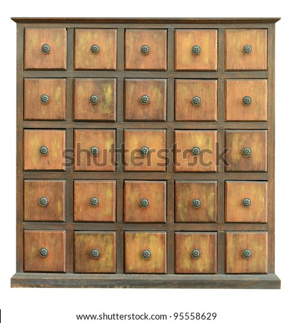 Wooden Drawers - stock photo