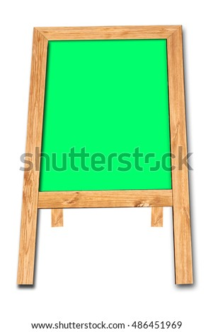 Wooden easel isolated on white background