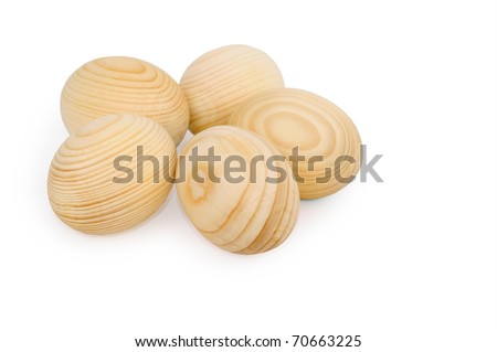 Wooden eggs for creativity. Isolated on white